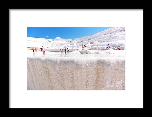 Beauty Framed Print featuring the photograph Travertines In Pamukkale, Turkey by Sezer66