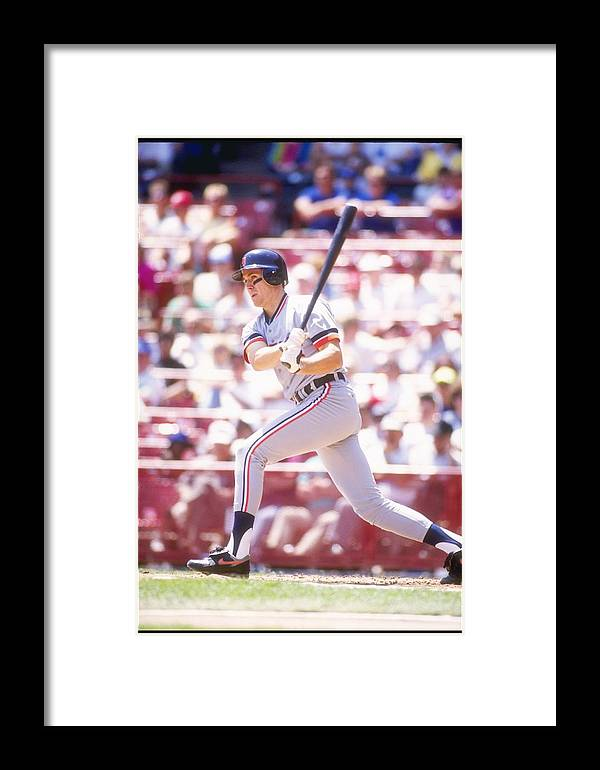 American League Baseball Framed Print featuring the photograph Travis Fryman by Otto Greule Jr
