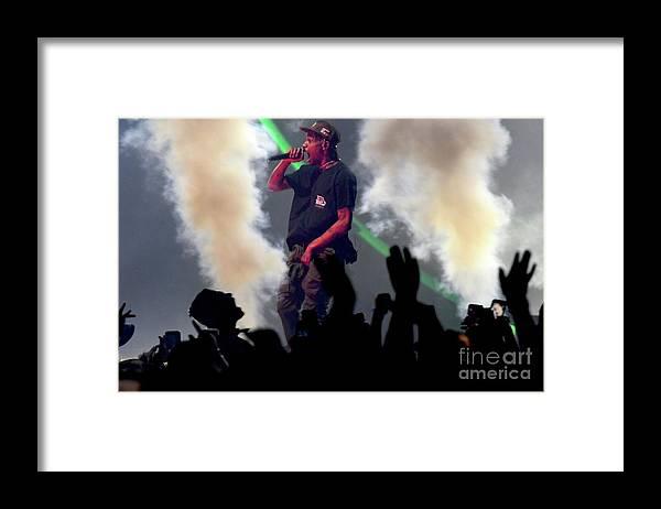 Travis Scott Framed Print featuring the photograph Travis Scott by Concert Photos