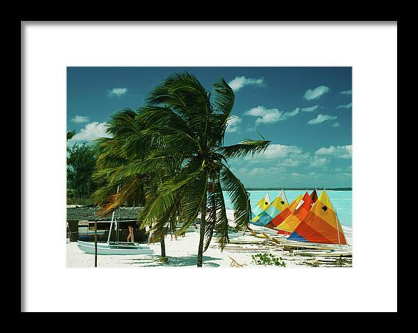 1980-1989 Framed Print featuring the photograph Treasure Cay by Slim Aarons
