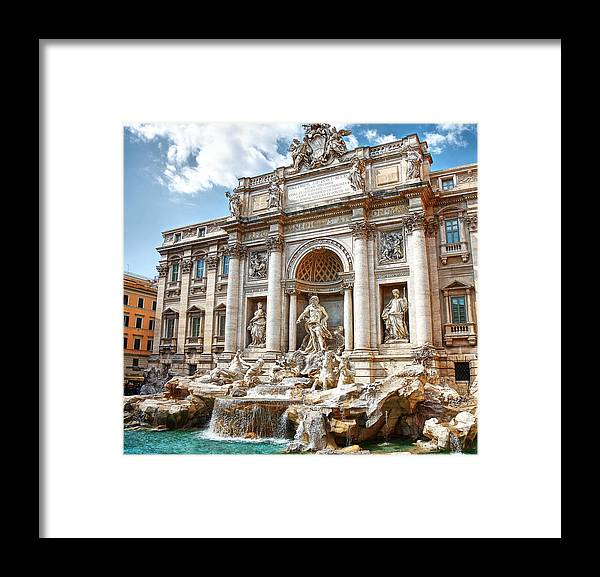 Arch Framed Print featuring the photograph Trevi Fountain by Maria Wachala