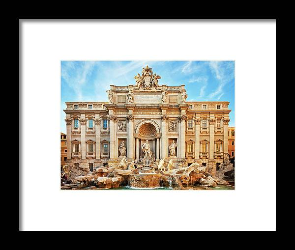 Empty Framed Print featuring the photograph Trevi Fountain, Rome by Nikada