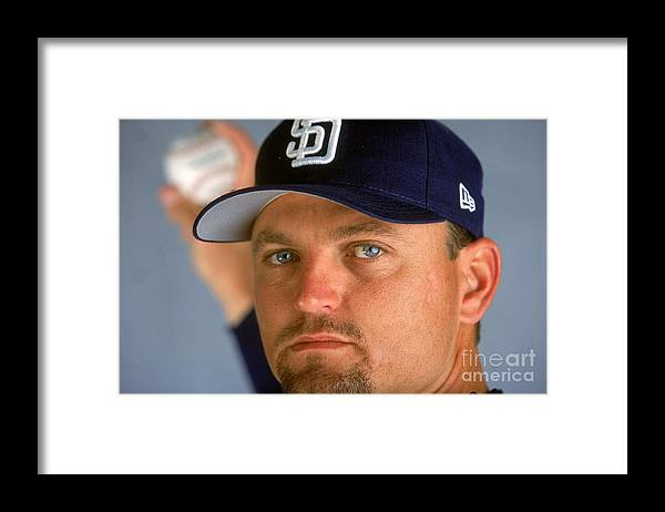 Peoria Sports Complex Framed Print featuring the photograph Trevor Hoffman 51 by Brian Bahr