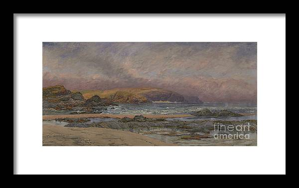 Seascape Framed Print featuring the painting Trevose Head by John Brett