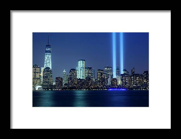 Tranquility Framed Print featuring the photograph Tribute In Lights by Nathan Blaney