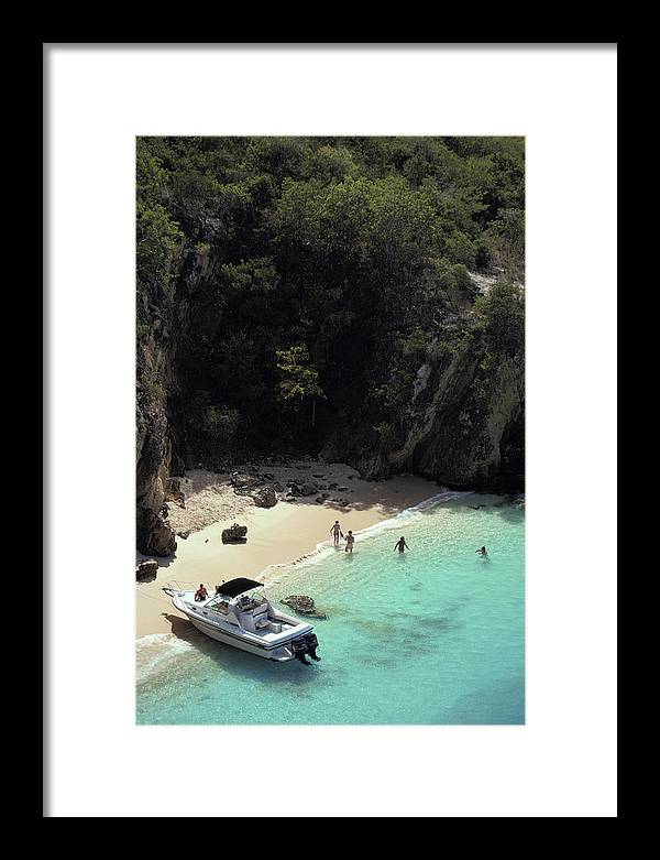 People Framed Print featuring the photograph Trip To Little Bay by Slim Aarons