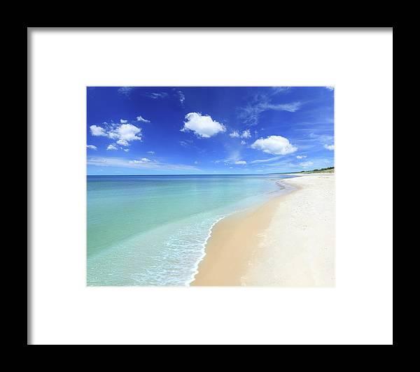 Water's Edge Framed Print featuring the photograph Tropical Beach by Konradlew