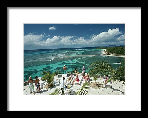 1980-1989 Framed Print featuring the photograph Tropical Mustique by Slim Aarons