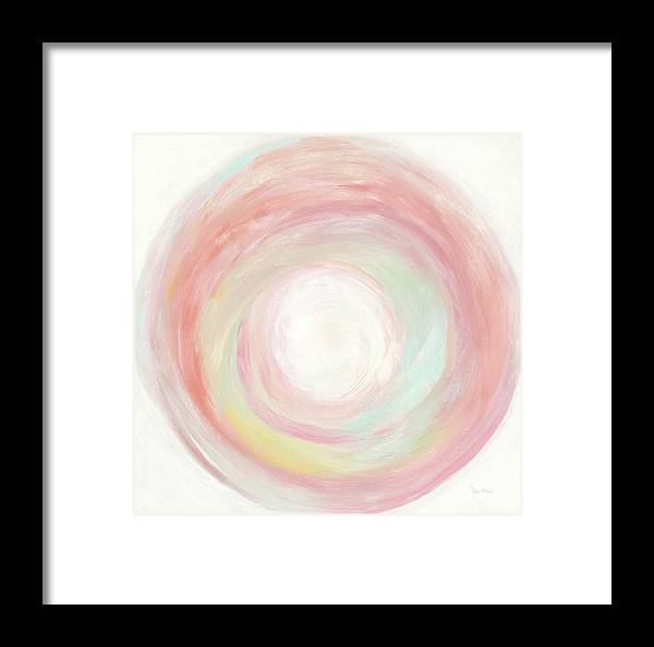 Abstract Framed Print featuring the painting Tropical Swirl I by Piper Rhue
