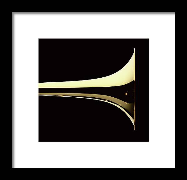 Curve Framed Print featuring the photograph Trumpet by Plainview