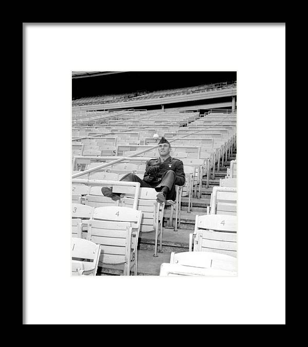 American League Baseball Framed Print featuring the photograph Tug Mcgraw, A Marine Reservist Now by New York Daily News Archive