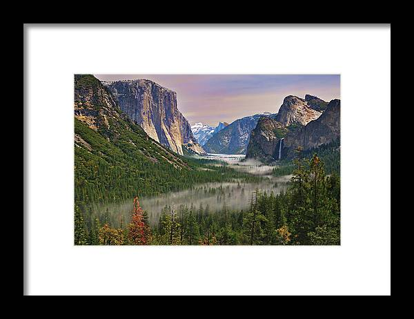 Scenics Framed Print featuring the photograph Tunnel View. Yosemite. California by Sapna Reddy Photography