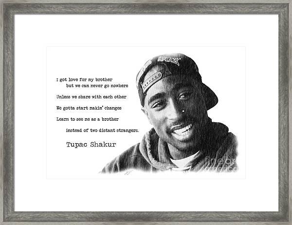 Tupac Framed Print By Jonas Luis