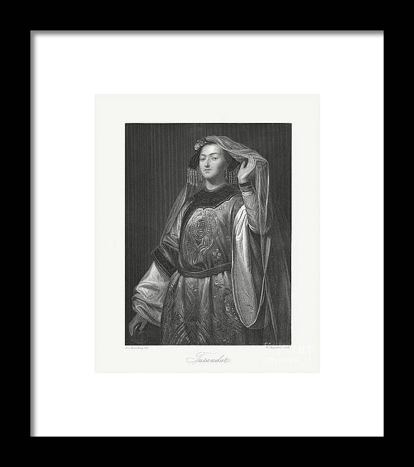 Chinese Culture Framed Print featuring the digital art Turandot, Fictional Character By Gozzi by Zu 09