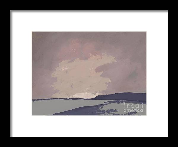 Twilight  Framed Print featuring the painting Twilight - Abstract Landscape By Vesna Antic by Vesna Antic