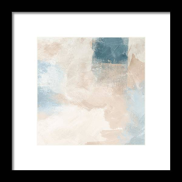 Abstract Framed Print featuring the painting Twilight Blue 2- Art By Linda Woods by Linda Woods