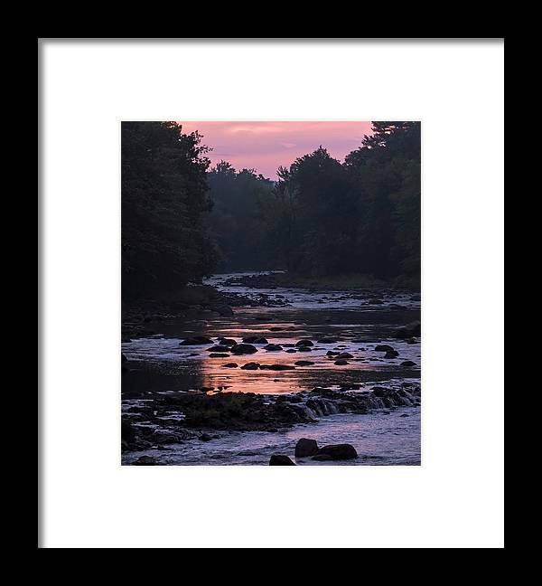 River Framed Print featuring the photograph Twilight River by Jerry LoFaro
