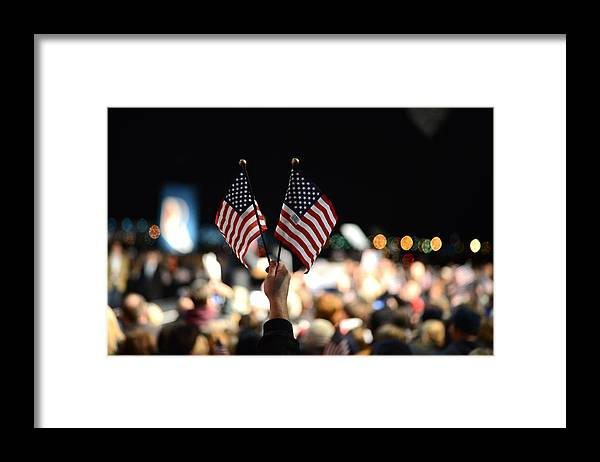 Crowd Framed Print featuring the photograph Twin Flags by Mikael Törnwall