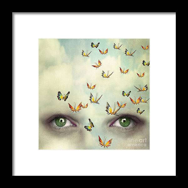 Beauty Framed Print featuring the photograph Two Eyes With The Sky And So Many by Valentina Photos