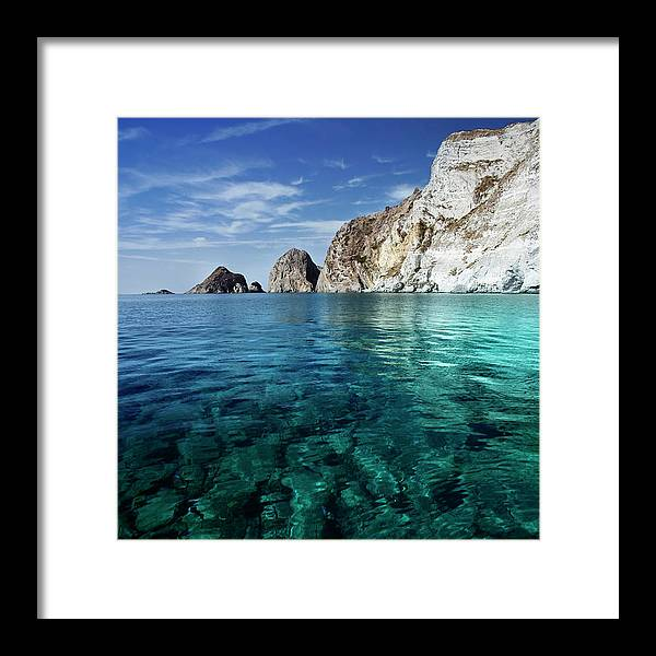 Scenics Framed Print featuring the photograph Typical Mediterranean Sea In Italy by Piola666