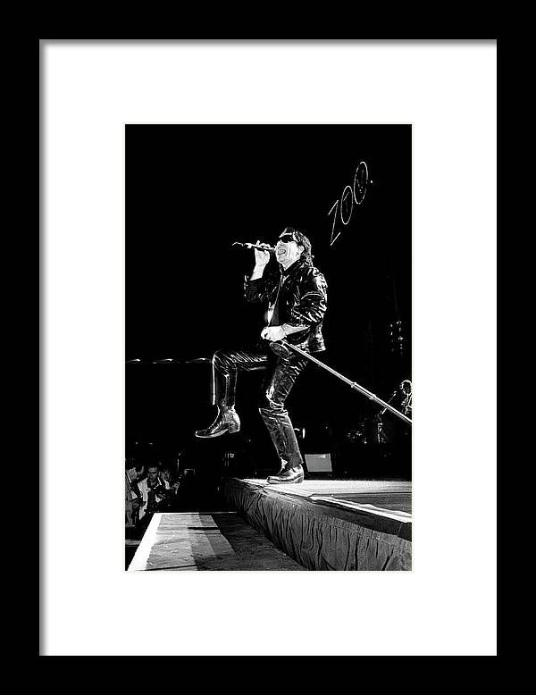 Music Framed Print featuring the photograph U2 Zoo Tv Tour Portugal 1993 by Martyn Goodacre