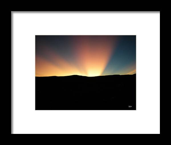 Summer Framed Print featuring the photograph Unaltered New Mexico Sunrise by Scott Haley