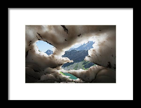 Scenics Framed Print featuring the photograph Underneath A Melting Snow Pack With by Michael Interisano / Design Pics