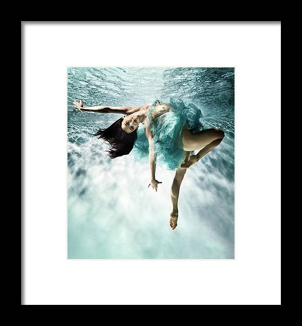 Ballet Dancer Framed Print featuring the photograph Underwater Ballet by Henrik Sorensen