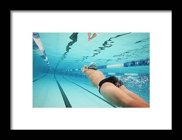 Underwater Framed Print featuring the photograph Underwater Swimmer by David Freund