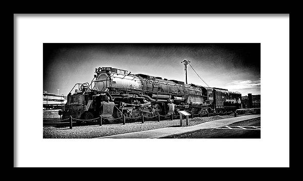 Dir-rr-3239-pb Framed Print featuring the photograph Union Pacific Big Boy In B W by Paul W Faust - Impressions of Light