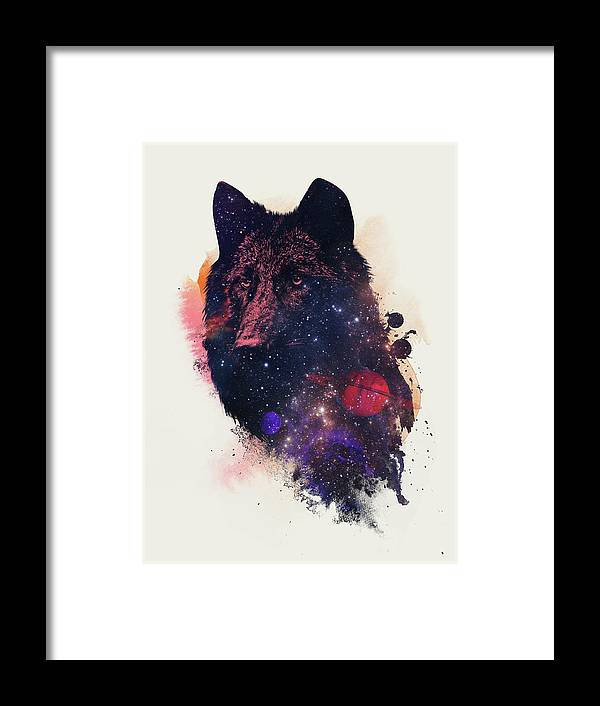 Universal Wolf Framed Print featuring the painting Universal Wolf by Robert Farkas