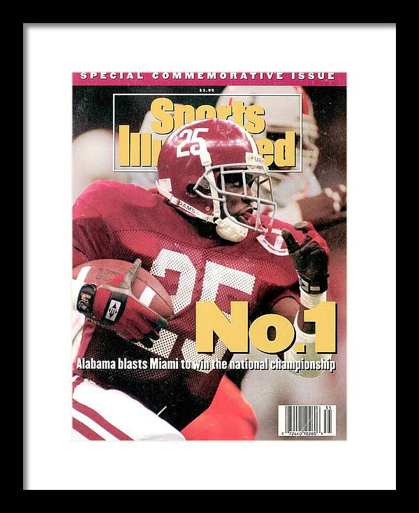 Magazine Cover Framed Print featuring the photograph University Of Alabama Derrick Lassic, 1993 Usf&g Financial Sports Illustrated Cover by Sports Illustrated