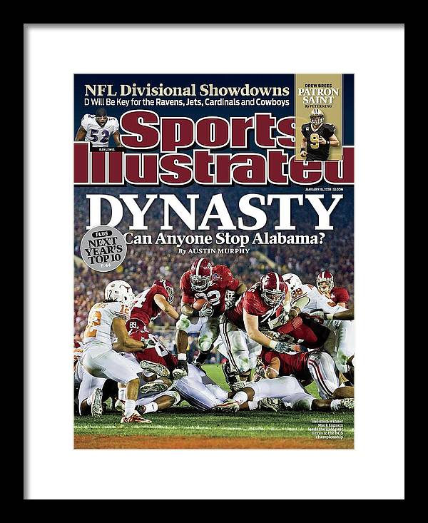 Rose Bowl Stadium Framed Print featuring the photograph University Of Alabama Mark Ingram, 2010 Citi Bcs National Sports Illustrated Cover by Sports Illustrated