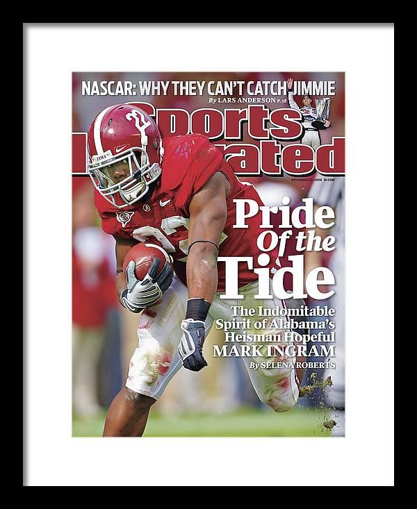 Magazine Cover Framed Print featuring the photograph University Of Alabama Mark Ingram Sports Illustrated Cover by Sports Illustrated