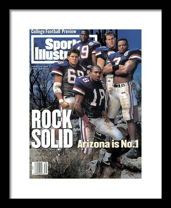 Season Framed Print featuring the photograph University Of Arizona, 1994 College Football Preview Issue Sports Illustrated Cover by Sports Illustrated