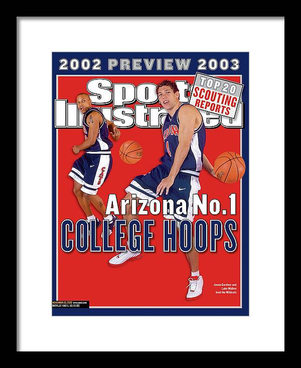 Season Framed Print featuring the photograph University Of Arizona Luke Walton And Jason Gardner Sports Illustrated Cover by Sports Illustrated