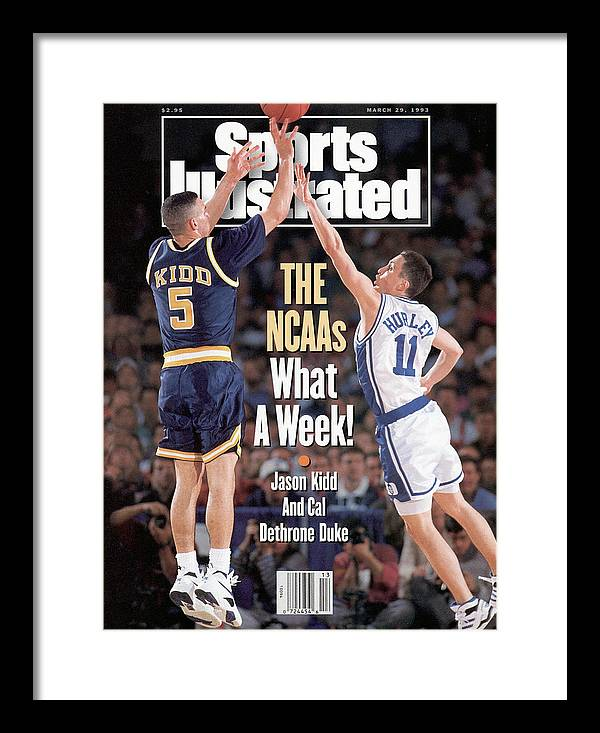 Playoffs Framed Print featuring the photograph University Of California Jason Kidd, 1993 Ncaa Midwest Sports Illustrated Cover by Sports Illustrated