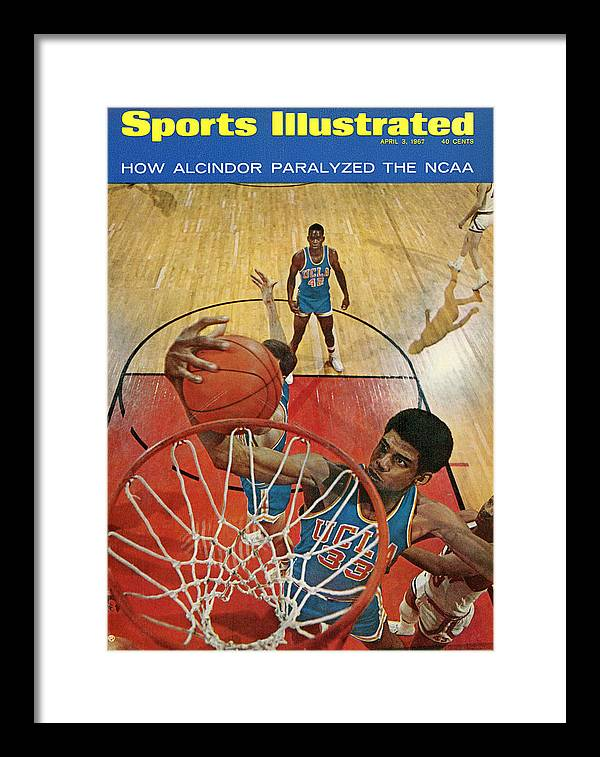 Magazine Cover Framed Print featuring the photograph University Of California Los Angeles Lew Alcindor, 1967 Sports Illustrated Cover by Sports Illustrated