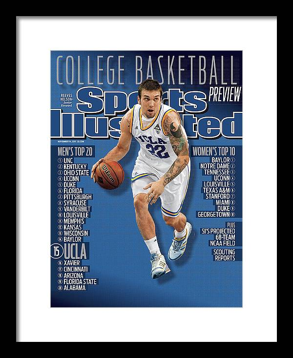 Magazine Cover Framed Print featuring the photograph University Of California Los Angeles Reeves Nelson, 2011-12 Sports Illustrated Cover by Sports Illustrated