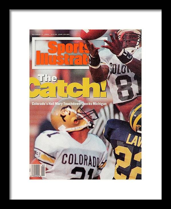 Magazine Cover Framed Print featuring the photograph University Of Colorado Michael Westbrook Sports Illustrated Cover by Sports Illustrated