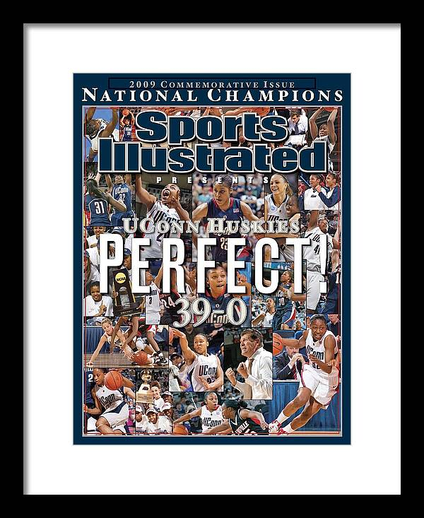 Magazine Cover Framed Print featuring the photograph University Of Connecticut, 2009 Ncaa National Womens Sports Illustrated Cover by Sports Illustrated