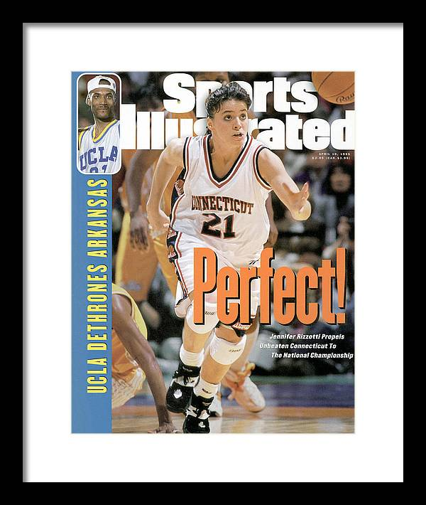 Magazine Cover Framed Print featuring the photograph University Of Connecticut Jennifer Rizzotti, 1995 Ncaa Sports Illustrated Cover by Sports Illustrated