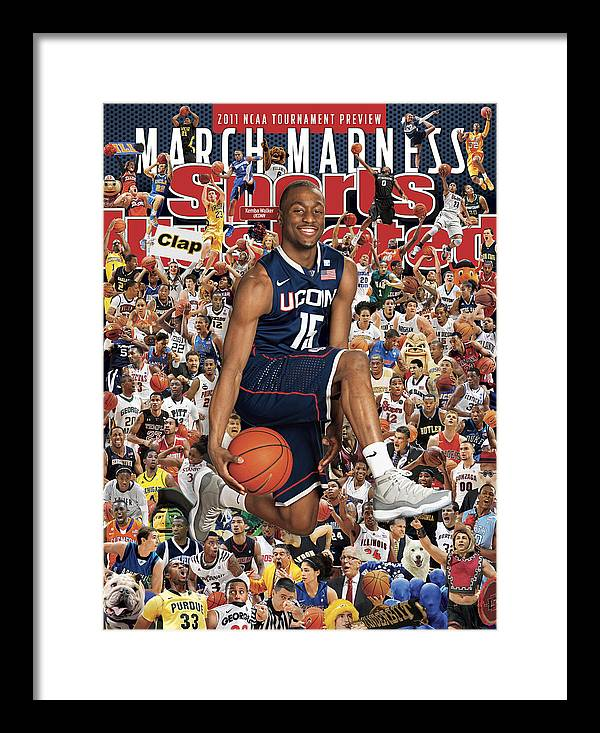 Kemba Walker Framed Print featuring the photograph University Of Connecticut Kemba Walker, 2011 March Madness Sports Illustrated Cover by Sports Illustrated