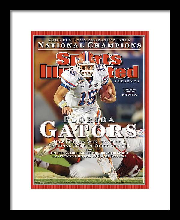 Hard Rock Stadium Framed Print featuring the photograph University Of Florida Florida Qb Tim Tebow, 2009 Fedex Bcs Sports Illustrated Cover by Sports Illustrated