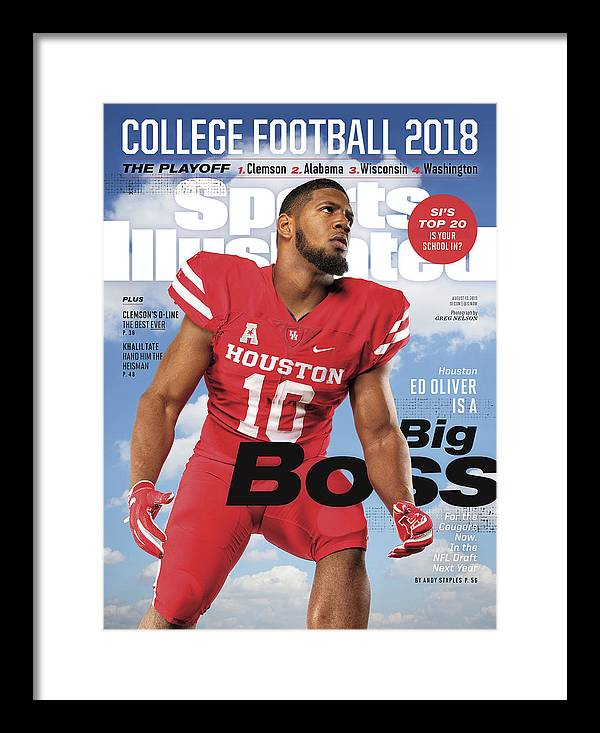 Magazine Cover Framed Print featuring the photograph University Of Houston Ed Oliver, 2018 College Football Sports Illustrated Cover by Sports Illustrated