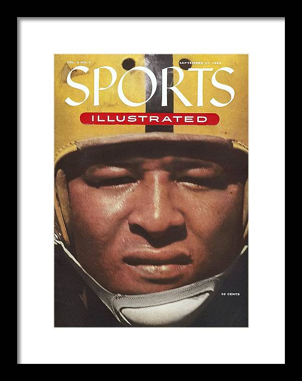 1950-1959 Framed Print featuring the photograph University Of Iowa Calvin Jones Sports Illustrated Cover by Sports Illustrated