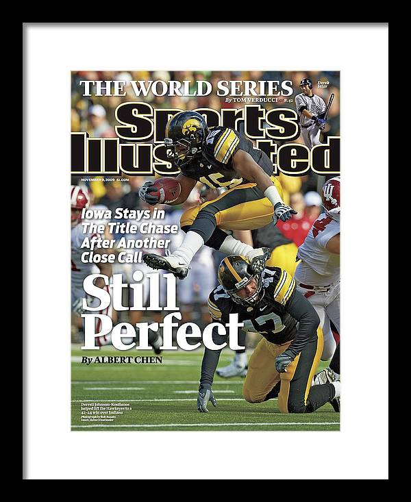 Magazine Cover Framed Print featuring the photograph University Of Iowa Derrell Johnson-koulianos Sports Illustrated Cover by Sports Illustrated