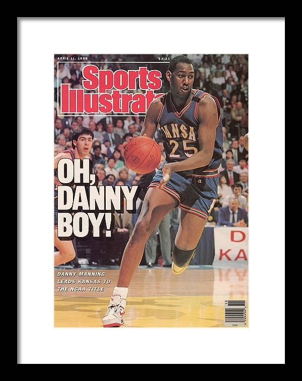 1980-1989 Framed Print featuring the photograph University Of Kansas Danny Manning, 1988 Ncaa National Sports Illustrated Cover by Sports Illustrated