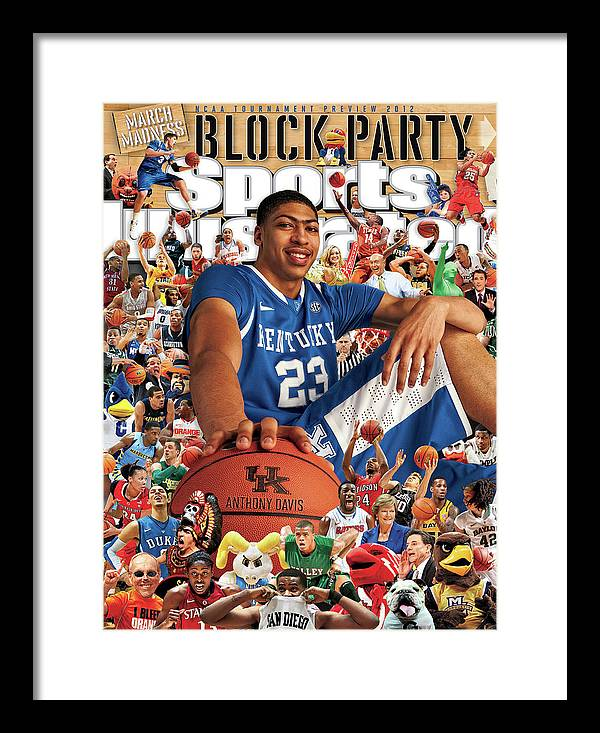 Magazine Cover Framed Print featuring the photograph University Of Kentucky Anthony Davis, 2012 March Madness Sports Illustrated Cover by Sports Illustrated