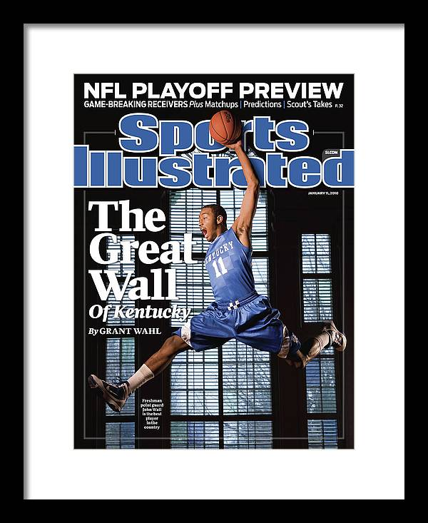 Point Guard Framed Print featuring the photograph University Of Kentucky John Wall Sports Illustrated Cover by Sports Illustrated